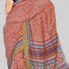 Silk Casual Partywear Designer Printed Sarees Sari With Blouse - X 4541C N