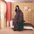 Crepe Partywear Printed Indian Bollywood Sarees Sari With Blouse - RS 5411 N