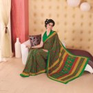 Crepe Partywear Printed Indian Bollywood Sarees Sari With Blouse - RS 5401 N