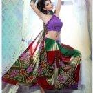 Faux Georgette Partywear Designer Printed Saree Sari With Blouse - X 2533 N