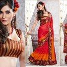 Jacquard Partywear Bridal Designer Embroidered Sari Saree with Blouse - X 211 N
