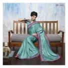Jacquard Partywear Designer Embroidered Saree Sari With Blouse- LPT 2072 N