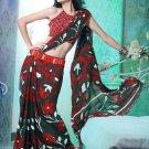 Faux Georgette Partywear Designer Printed Saree Sari With Blouse - X 2538 N