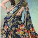 Faux Georgette Partywear Designer Printed Saree Sari With Blouse - X 2510 N