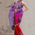 Faux Georgette Partywear Designer Embroidered Sari Saree With Blouse - X 7335A N