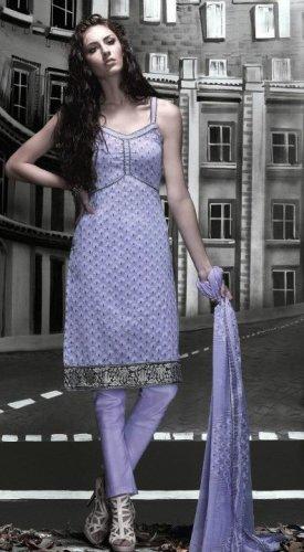 Cotton Partywear Designer Embroidered Salwar Kameez With Dupatta - X 6082a N