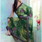 Faux Georgette Partywear Designer Printed Saree Sari With Blouse - X 2503 N