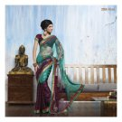 Faux Georgette Partywear Designer Embroidered Saree Sari With Blouse- LPT 2068 N