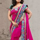 Faux Georgette Partywear Designer Embroidered Sari Saree With Blouse - X 7356A N