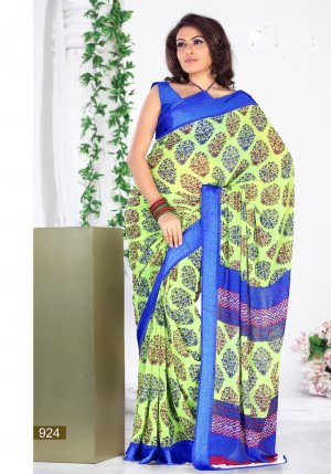 Partywear Georgette Exclusive Designer Printed Saree With Blouse - X 924 N