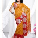 Partywear Faux Georgette Exclusive Designer Printed Saree With Blouse - X 919 N