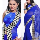 Partywear Georgette Exclusive Designer Printed Saree With Blouse - X 920 N