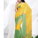 Partywear Faux Georgette Exclusive Designer Printed Saree With Blouse - X 905 N
