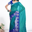 Partywear Faux Georgette Exclusive Designer Printed Saree With Blouse - X 918 N