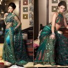 Net Crepe Bridal Wedding Designer Embroidery Saree with Blouse - X 2513 N