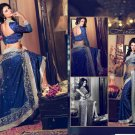 Crepe & Net Bridal Wedding Designer Embroidery Saree with Blouse - X 2501 N