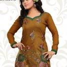 Indian Bollywood Korra Silk Partywear Embroidered Kurti Kurta Tops - X 109b