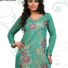Indian Bollywood Korra Silk Partywear Embroidered Kurti Kurta Tops - X 111b