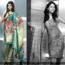 Shalwar Salwar Kameez Indian Designer Embroidered Crepe Suit - X 46