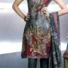 Shalwar Salwar Kameez Indian Designer Embroidered Crepe Suit - X 9