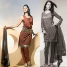 Shalwar Salwar Kameez Indian Designer Embroidered Crepe Suit - X 59