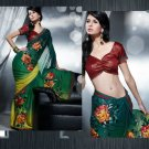 Satinpatti Georgette Bridal Designer Embroidered Sarees Sari With Blouse - X 430