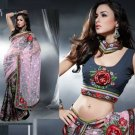 Net Georgette Bridal Designer Embroidered Sarees Sari With Blouse - X 407