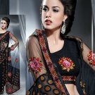 Net Brasso Bridal Designer Embroidered Sarees Sari With Blouse - X 427