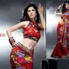 Net Crape Bridal Designer Embroidered Sarees Sari With Blouse - X 421