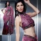 Net Brasso Bridal Designer Embroidered Sarees Sari With Blouse - X 418