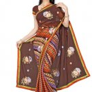 Indian Bollywood Designer Saree Embroidery Stylish Traditional Sari - TU 719
