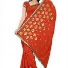 Indian Bollywood Designer Saree Embroidery Stylish Traditional Sari - TU 662