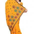 Indian Bollywood Designer Saree Embroidery Stylish Traditional Sari - TU 582