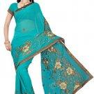 Indian Bollywood Designer Saree Embroidery Stylish Traditional Sari - TU 553
