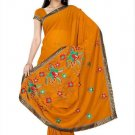 Indian Bollywood Designer Saree Embroidery Stylish Traditional Sari - TU 677