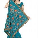 Indian Bollywood Designer Saree Embroidery Stylish Traditional Sari - TU 642