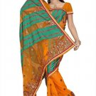 Indian Bollywood Designer Saree Embroidery Stylish Traditional Sari - TU 624