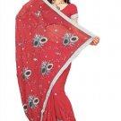 Indian Bollywood Designer Saree Embroidery Stylish Traditional Sari - TU 594