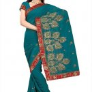 Indian Bollywood Designer Saree Embroidery Stylish Traditional Sari - TU 577