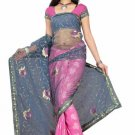 Indian Bollywood Designer Saree Embroiderey Stylish Traditional Sari - TU 510
