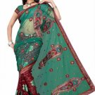 Indian Bollywood Designer Saree Embroiderey Stylish Traditional Sari - TU 525