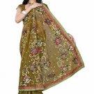 Indian Bollywood Designer Saree Embroiderey Stylish Traditional Sari - TU 505