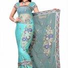 Indian Bollywood Designer Saree Embroiderey Stylish Traditional Sari - TU 497