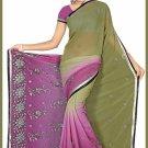 Indian Bollywood Designer Saree Embroidered Sari - TU6257