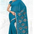 Indian Bollywood Designer Saree Embroidered Sari - TU6218