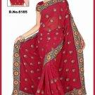 Indian Bollywood Designer Saree Embroidered Sari - TU6185