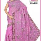 Indian Bollywood Designer Saree Embroidered Sari - TU6181