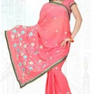 Indian Bollywood Designer Saree Embroidered Sari - TU6153