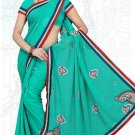 Indian Bollywood Designer Saree Embroidered Sari - TU6150