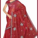 Indian Bollywood Designer Saree Embroidered Sari - TU6120
